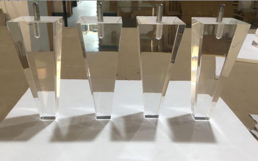 Top Clear Acrylic Furniture Legs For Bench,Ottoman, Stool.